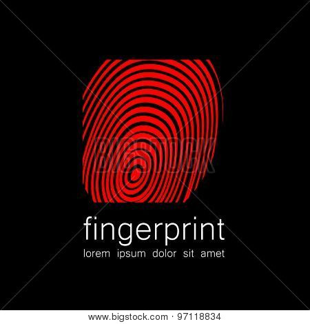 Fingerprint - the template for a logo. Symbol fingerprint - a sign of identification, preservation and protection.