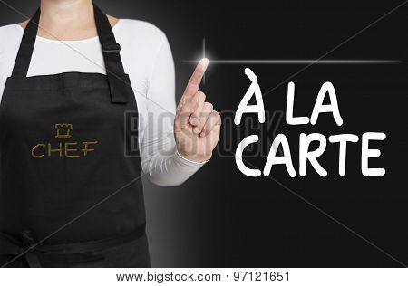 A La Carte Food Touchscreen Is Operated By Cook
