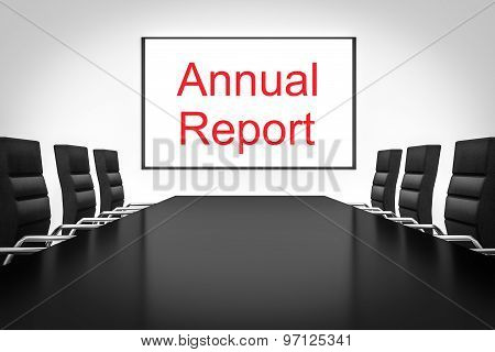 Conference Room With Large Whiteboard Annual Report
