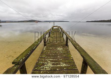 Dock in Bay of Fires