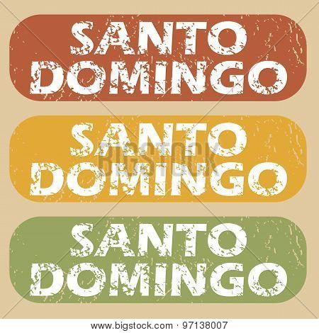 Vintage Santo Domingo stamp set