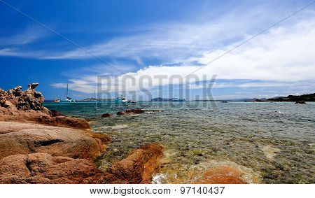 Liscia Ruja Beach Costa Smeralda Emerald coast Sardinia Italy poster