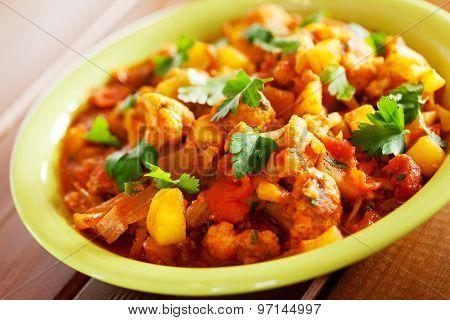 Gobi Aloo Indian Curry Dish