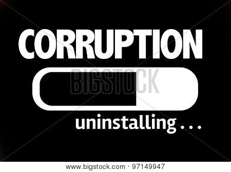 Progress Bar Uninstalling with the text: Corruption poster