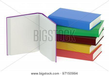 Multicolored Books