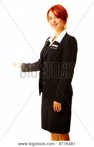 Young Caucasian Woman As Hotel Worker