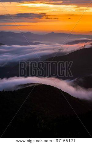 Warm Blue Ridge Mountain Sunrise 4