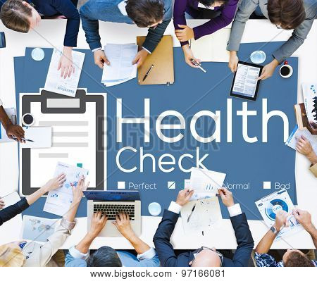 Health Check Insurance Check Up Check List Medical Concept poster