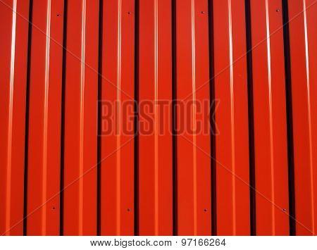 Red Metal Corrugated Sheet Metal