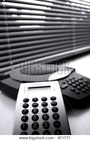 Calculator And Telephone