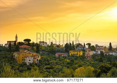 Tuscany  Town In The Hills