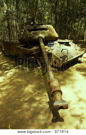 Fallen Tank From The Vietnam War