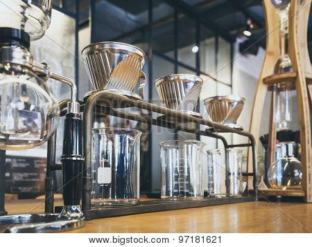 Drip Coffee Glass Kits Coffee Shop Cafe Display