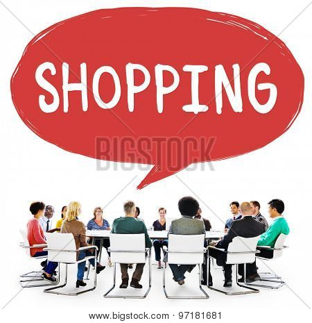 Shopping Retail Shopaholic Consumerism Market Concept poster