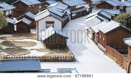 Japaneses House Village Miniature Model