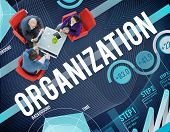 Organization Management Collaboration Team Structure Concept poster