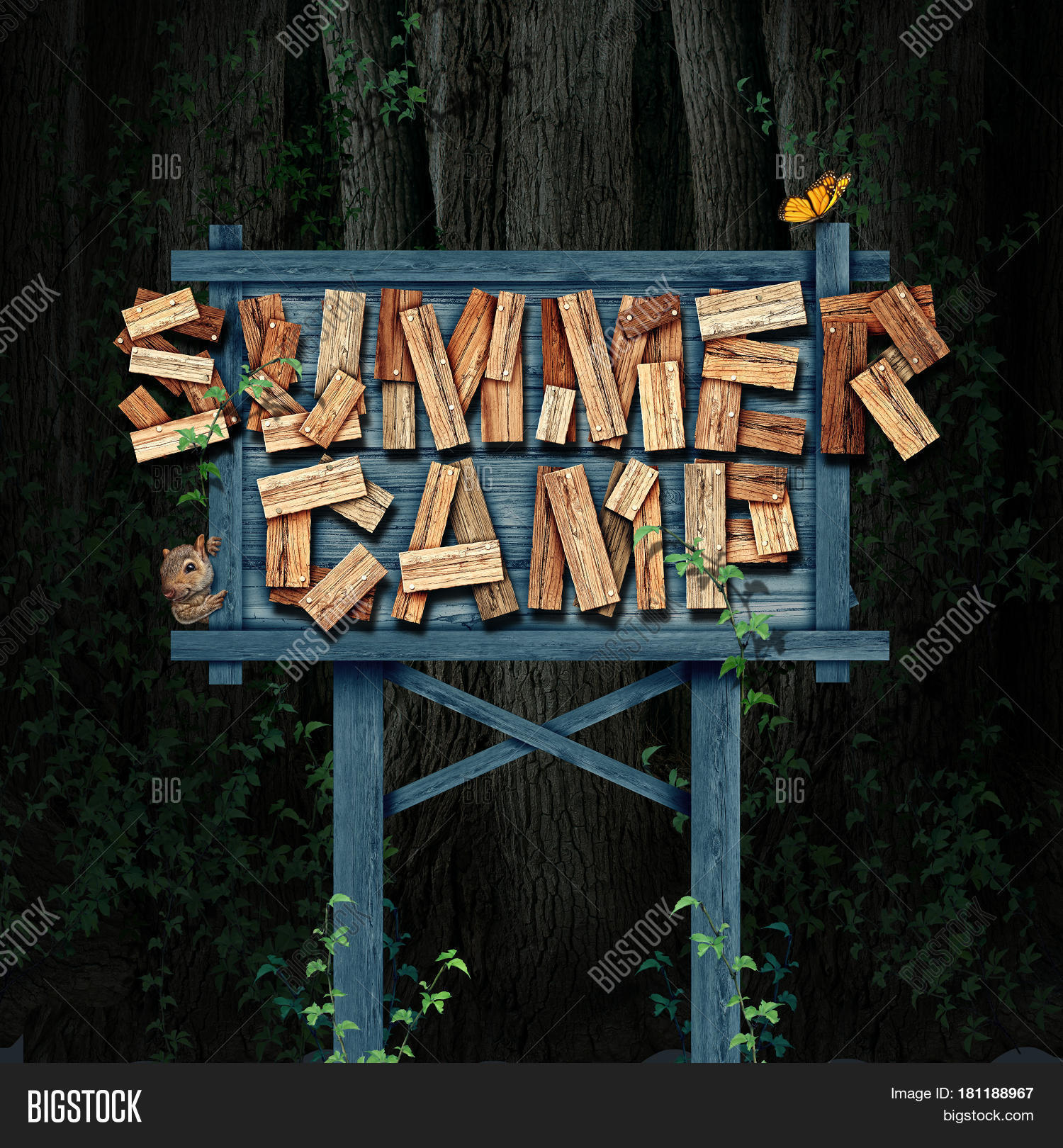 Summer Camp Sign Text Image Photo Free Trial Bigstock