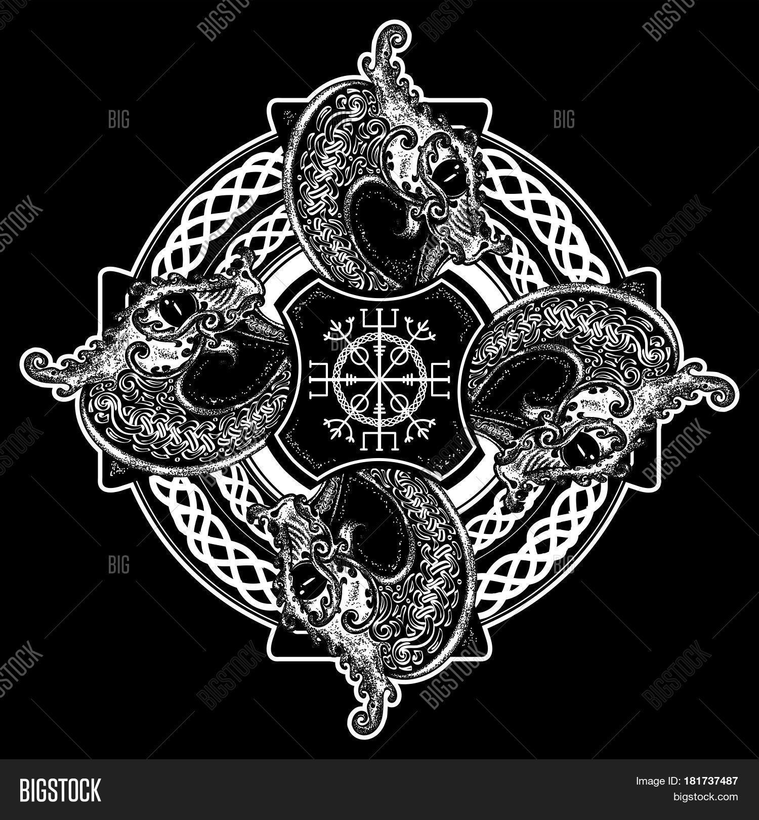 Celtic Cross Tattoo Vector & Photo (Free Trial)   Bigstock