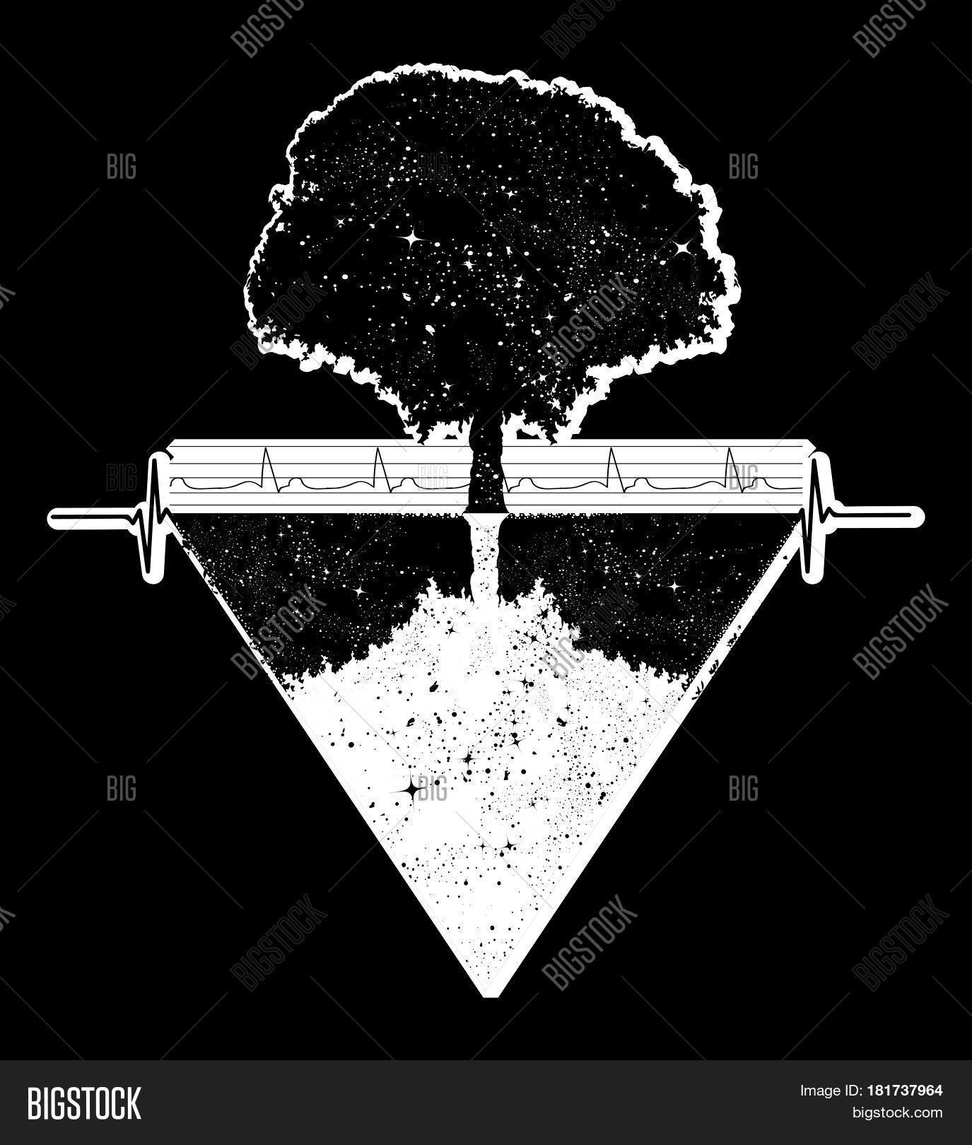 Tree Life Tattoo Art Vector Photo Free Trial Bigstock