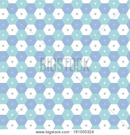 soft blue shade polygon with star pattern background vector illustration image