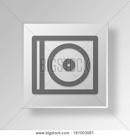 Gray Square Compact Disc Symbol icon Concept