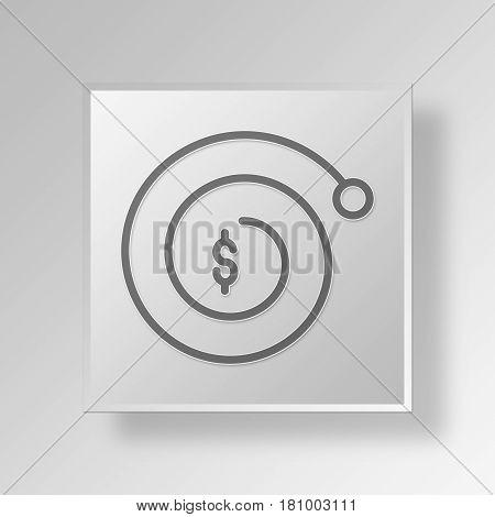 Gray Square Compund Interest Symbol icon Concept