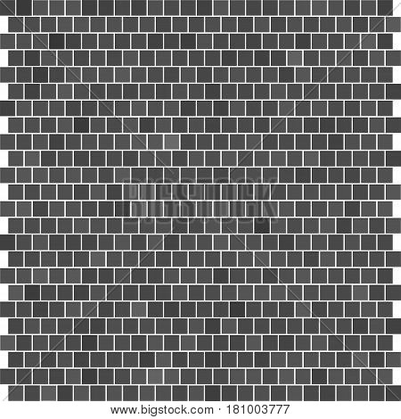 texture of the brickwork. abstract wall. squares different shades. gray background. vector illustration