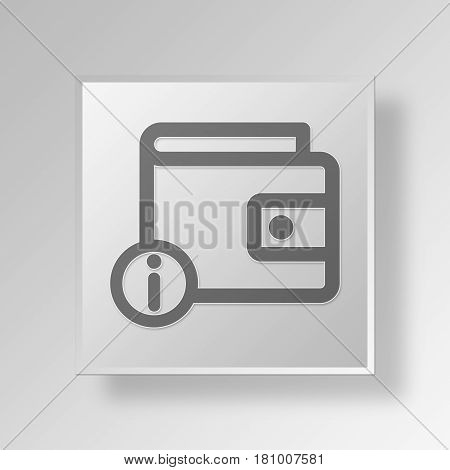 Gray Square information wallet Symbol icon Concept
