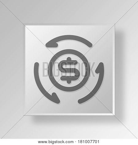 Gray Square INVEST MONEY Symbol icon Concept
