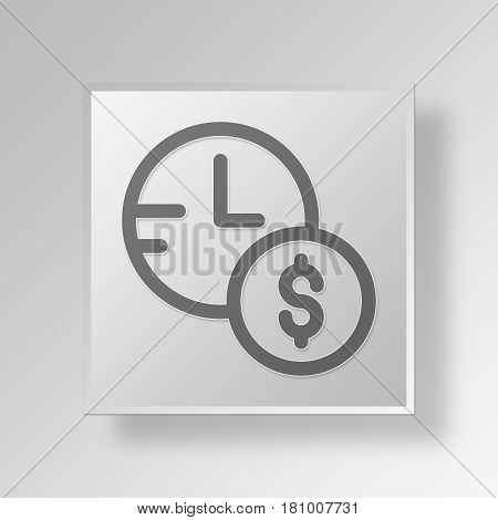 Gray Square Investment Time Symbol icon Concept
