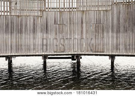 water Wooden pier in harbor outdoor nature