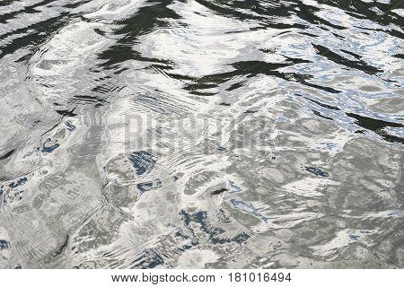 Water reflecting surface abstract close up nature