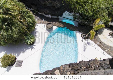 Pool In Cesar Manrique's Home In Taro De Tahiche