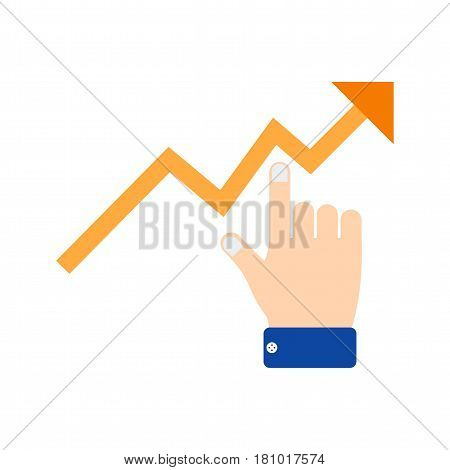 Graph, chart, business icon vector image. Can also be used for business administration. Suitable for mobile apps, web apps and print media.