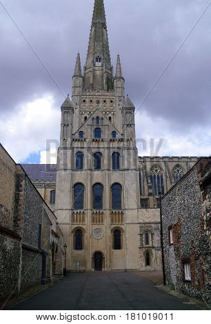 View Of Side Entrance Of Norwich Cathedral