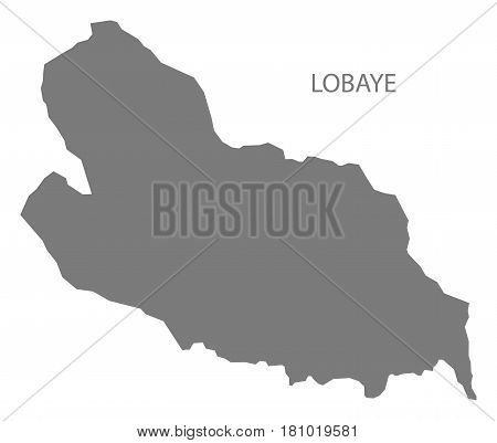 Lobaye prefecture region map grey illustration silhouette