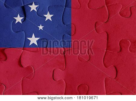 Independent State Of Samoa Flag Puzzle