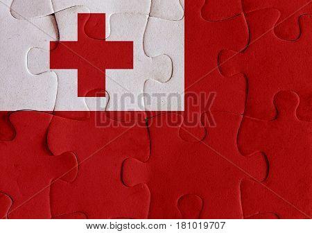 Kingdom Of Tonga Flag Puzzle