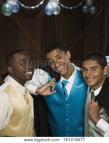 Multi-ethnic men wearing suits