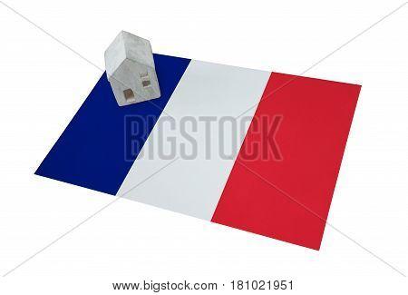 Small House On A Flag - France