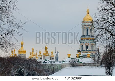 Kiev-pechersk Lavra In Winter.