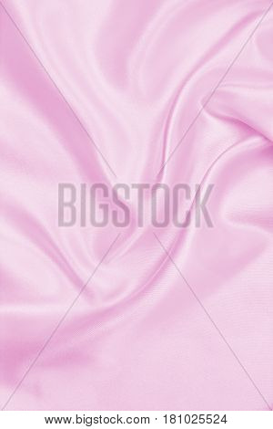 Smooth Elegant Pink Silk Or Satin Texture As Wedding Background. Luxurious Valentine Day Background