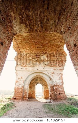 Old Ruins Of Obsolete Church Outdoors