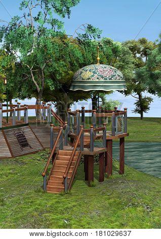 3D Rendering Fantasy Home