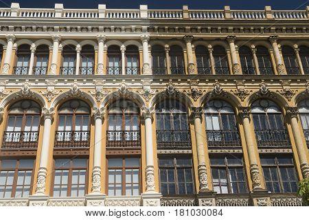Valladolid (Castilla y Leon Spain): historic buildings with typical balconies