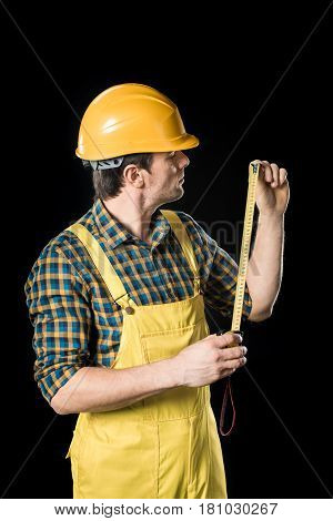 Workman With Meter Roller