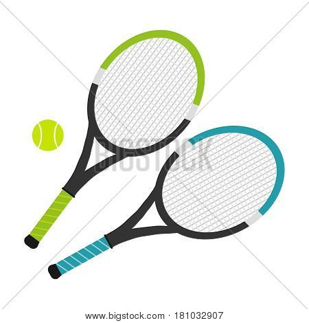 Tennis rocket. Flat design vector illustration vector.