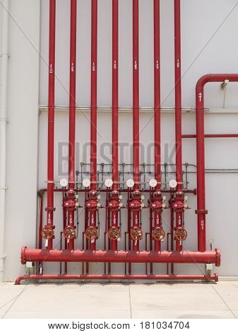 Fire Fighting Water Supply Pipeline System.