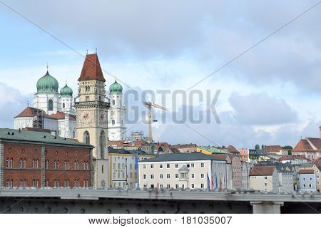 A view of the architecturally interesting city of Passau
