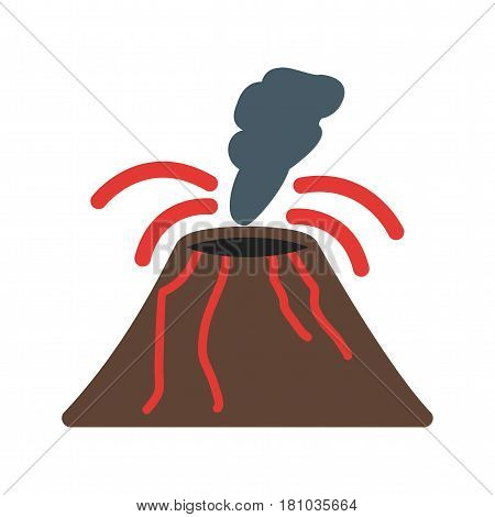 Volcano, eruption, smoke icon vector image. Can also be used for disasters. Suitable for mobile apps, web apps and print media.
